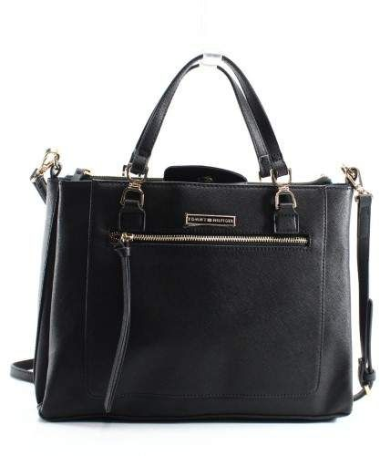 4340cacdf9 Tommy Hilfiger Black Saffiano Luciana Medium Shopper Tote Bag Purse #bags  #womensbags #handbags #bagswelove