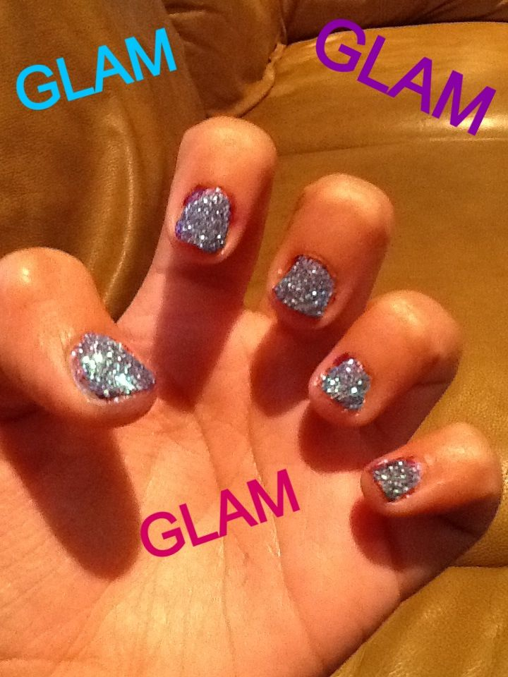 LIGHTS,CAMERA,GLAM!!!!!! Kids nail art Step 1 add color to nail ...
