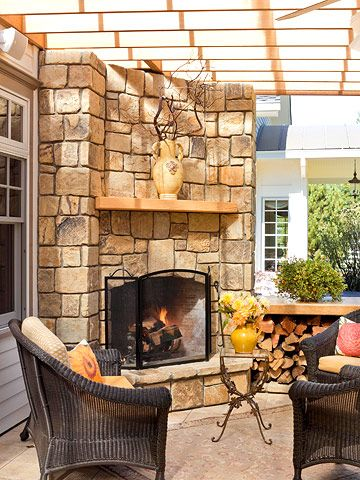 Real life porch additions wood burning montana and corner friendly fireplace a wood burning fireplace also made from montana stone teraionfo