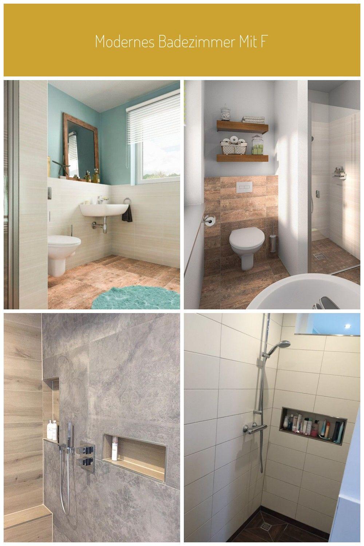 Modernes Badezimmer Mit Fliesen In Holzoptik Dusche Ebenerdig Bad Einrichtung Ideen Flair 180 Duo Tr In 2020 Mit Bildern Modernes Badezimmer