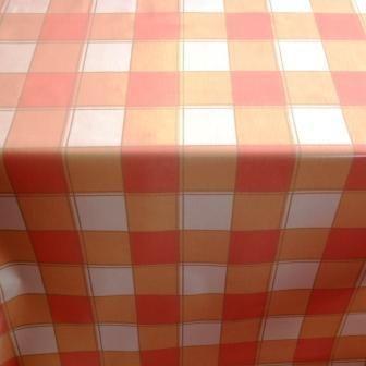 Orange Check  Tablecloth