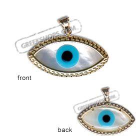 14k gold evil eye pendant eye shaped mother of pearl greek key 14k gold evil eye pendant eye shaped mother of pearl greek key 32mm aloadofball Choice Image