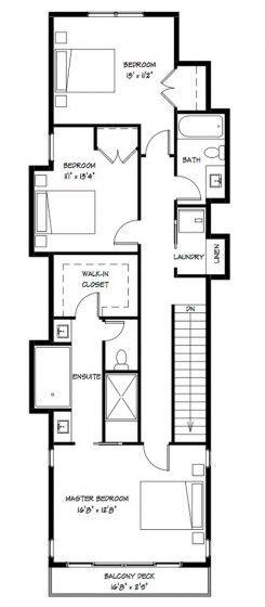 Planos Casa Dos Pisos Angosta Y Larga Diseño Vivienda