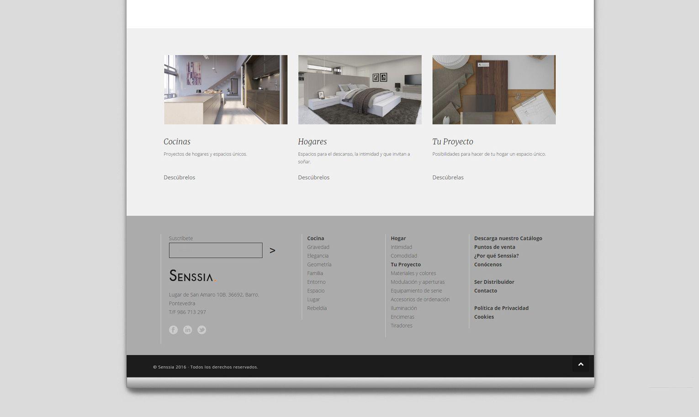 Senssia · Diseño web para fabricante de muebles de cocina ...