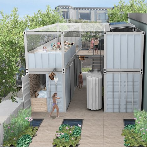 Shipping Container Projects urban spa made from shipping containers for san francisco   spa