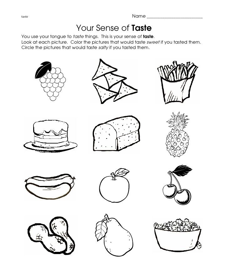 Taste Worksheet Crafts And Worksheets For Preschool Toddler And