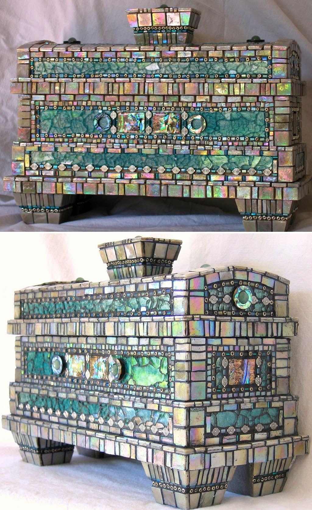 мозаичноая шкатулка. мк. Изображения в сообщении