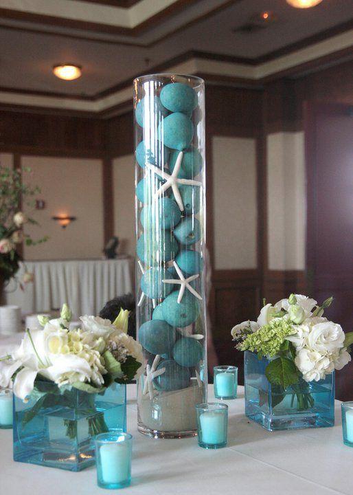Under The Sea Centerpiece Quinceaneras Beach Wedding Centerpieces Wedding Decorations Wedding