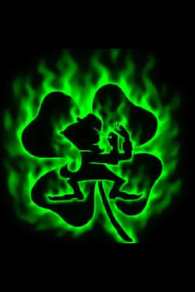 Notre Dame leprechaun & shamrock. Like the Irish? Be sure
