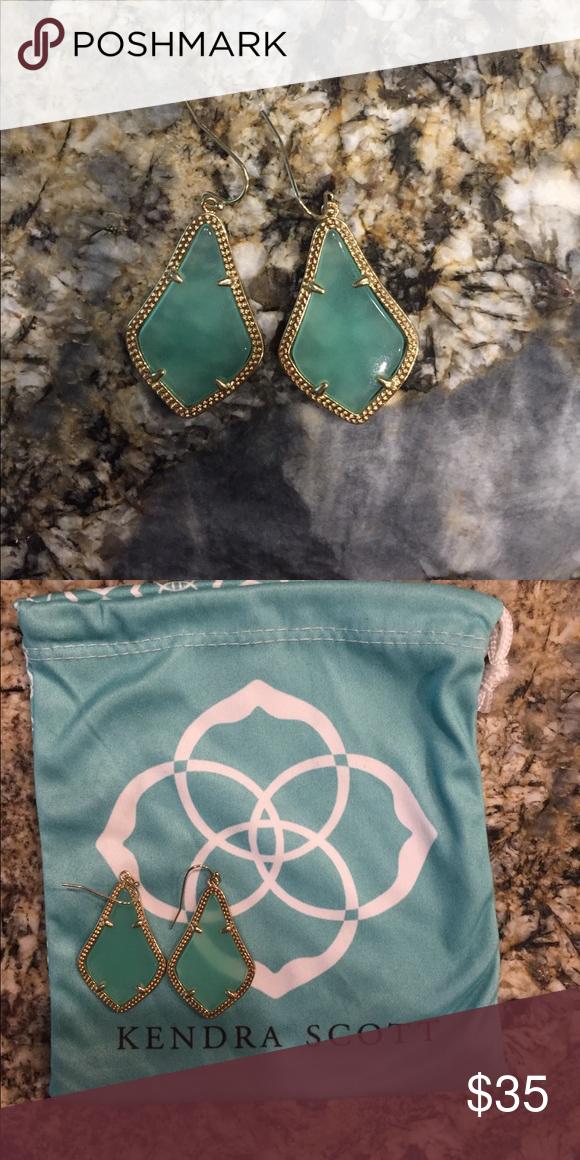 Kendra Scott earrings Turquoise and gold Kendra Scott earrings never worn with bag Kendra Scott Jewelry Earrings