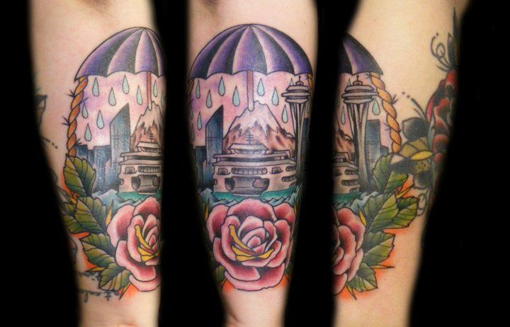Chris greenewald super genius tattoo seattle tattoo for Tattoo parlors seattle
