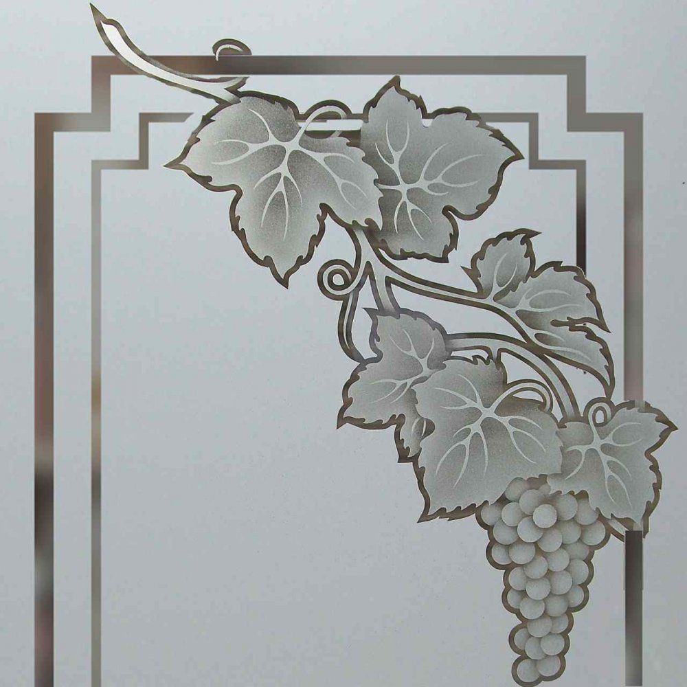 Cascade Grapes B 2D Pantry Door Glass l Sans Soucie | Kitchen ...
