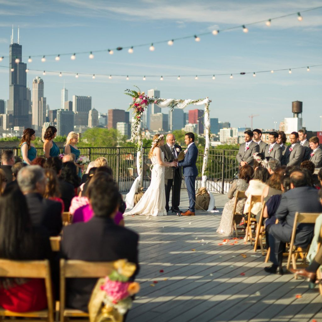 Outdoor Wedding Spots Near Me: Sunny Outdoor Wedding Ceremony In Chicago At Lacuna Events