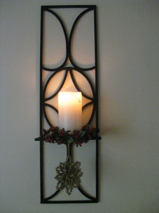 Add greenery to a wall sconce... #candle sconces with ... on Wall Sconces For Greenery Decoration id=60010