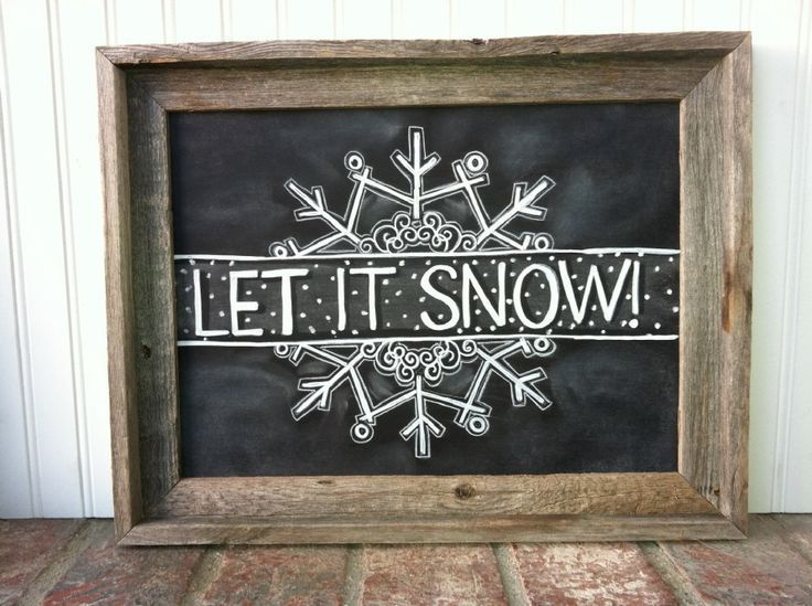 Creative Christmas Chalkboard Art Ideas Picture 8 #christmaschalkboardartideas
