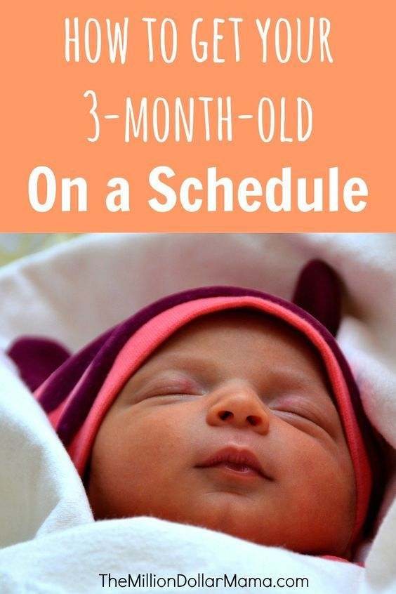 How To Get Your 3-Month-Old Baby on a Schedule | Mom life ...