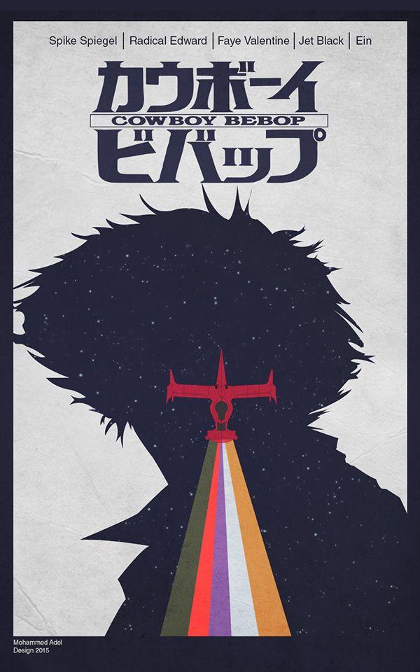 Cowboy Bebop Minimalist Poster On Behance Cowboy Bebop Cowbo