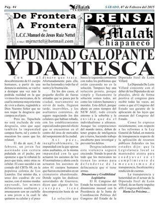 ISSUU - #01 07022014 año digital 7, año impreso 4 de Manuel de Jesus Ruiz Nettel