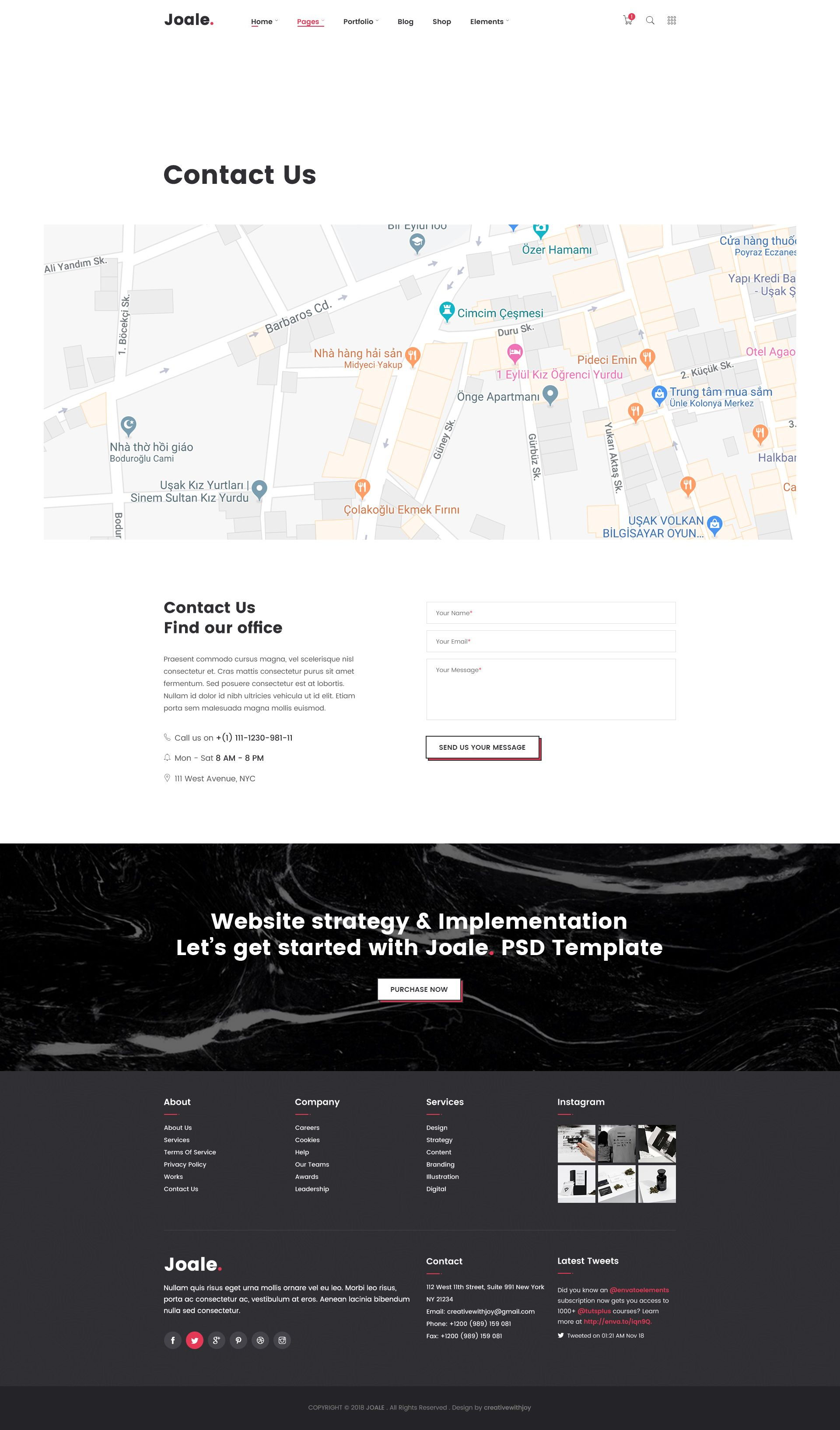 small resolution of joale branding design digital creative agency psd template amp design