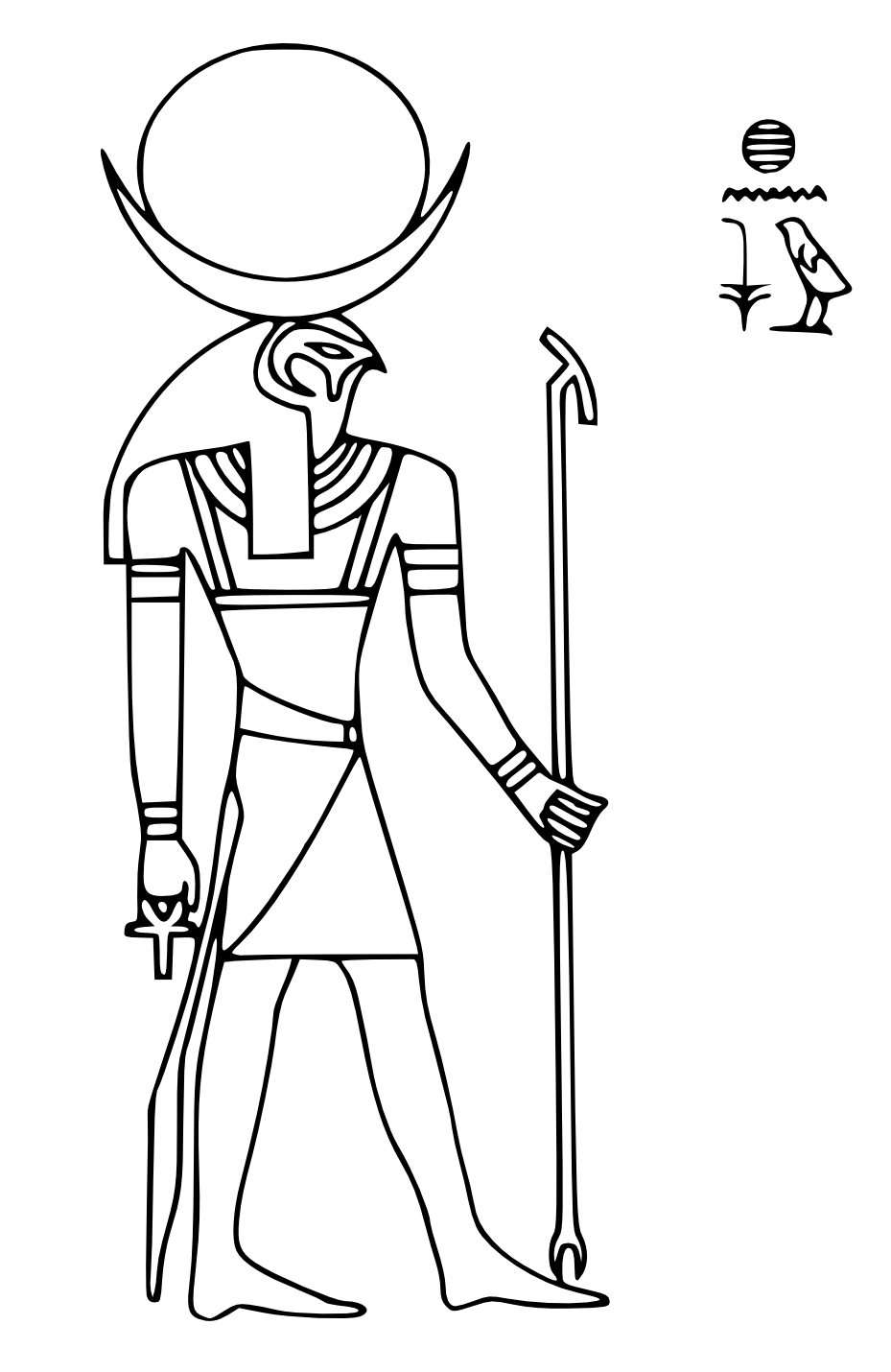 Printable coloring pages - Egyptian Mythology (Gods and Goddesses ...