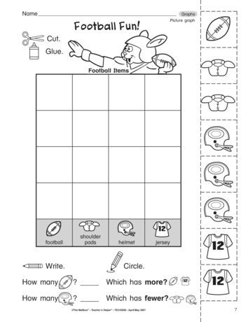 Hut Hut This Football Themed Math Worksheet Is Sure To Be Well Received By Your Kiddos Skills Include Maki Picture Graphs Math Worksheet Graphing Activities