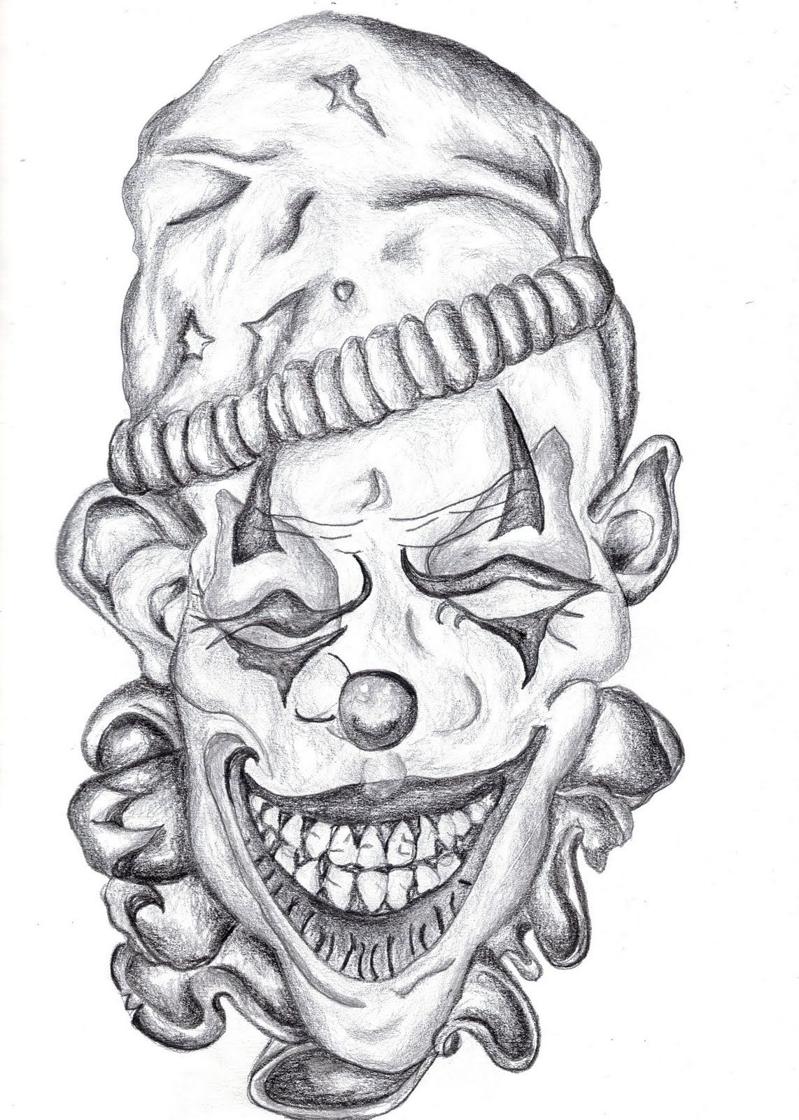 joker tattoo crazy coloring coloring pages  badass