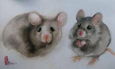 "Saatchi Art Artist Marie-Helene Stokkink; Painting, ""Muisjes"" #art"