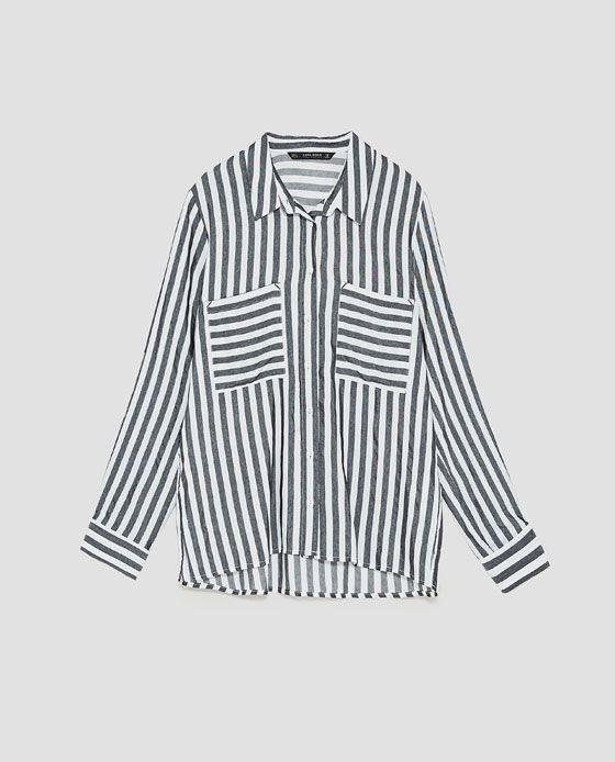 54c311a4 Image 8 of STRIPED SHIRT from Zara | FASHION-3 Fall | Shirts, Women ...