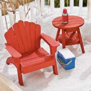 Red Mini Adirondack Chair