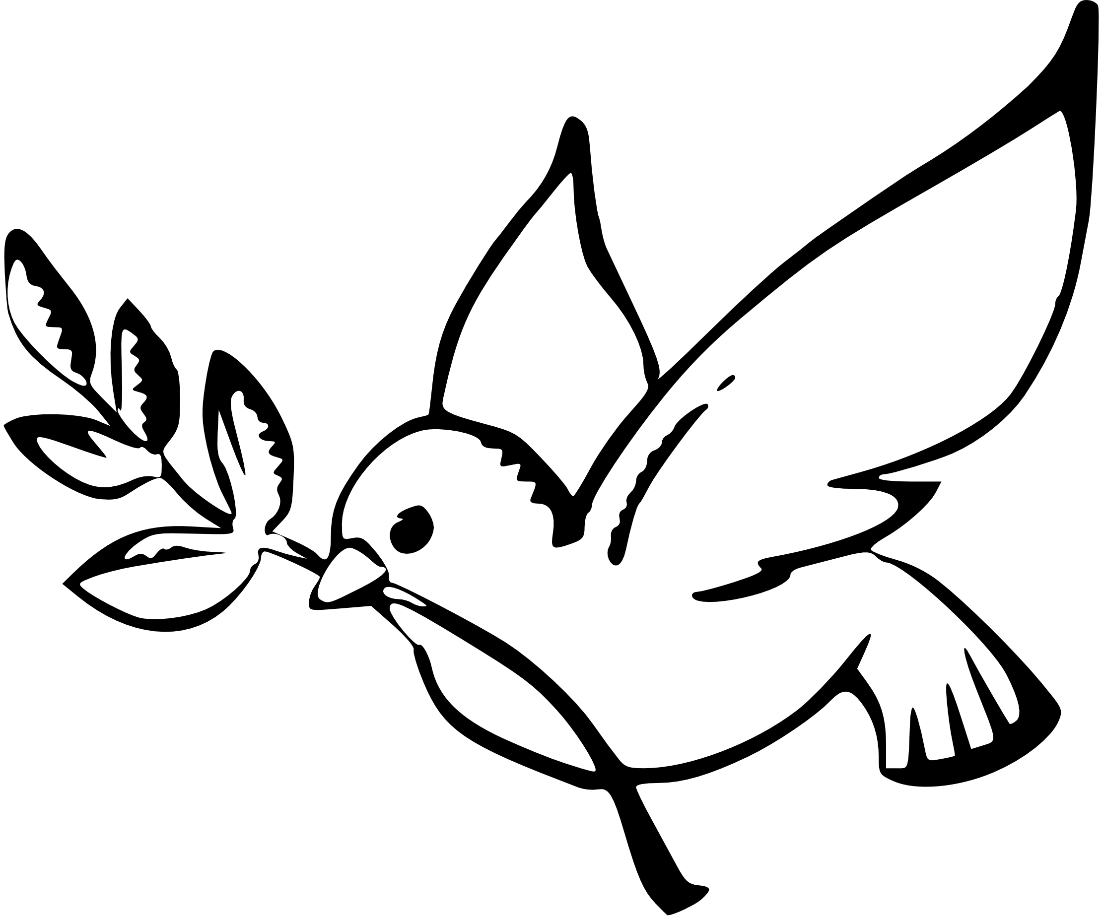 Dove Line Drawing Clipart Best