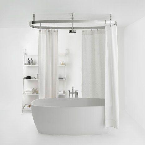 Cooper Shower Curtain Rail From Agape Design