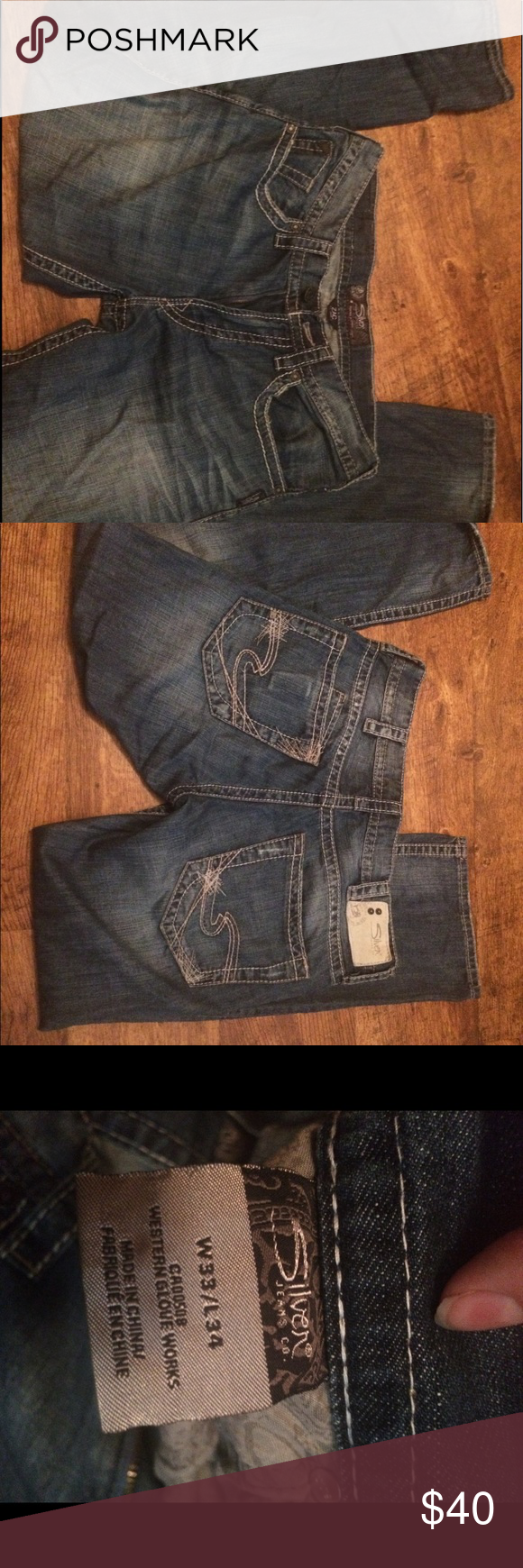 Men's silver jeans Perfect condition just didn't fit my boyfriend Silver Jeans Jeans #myposhpicks