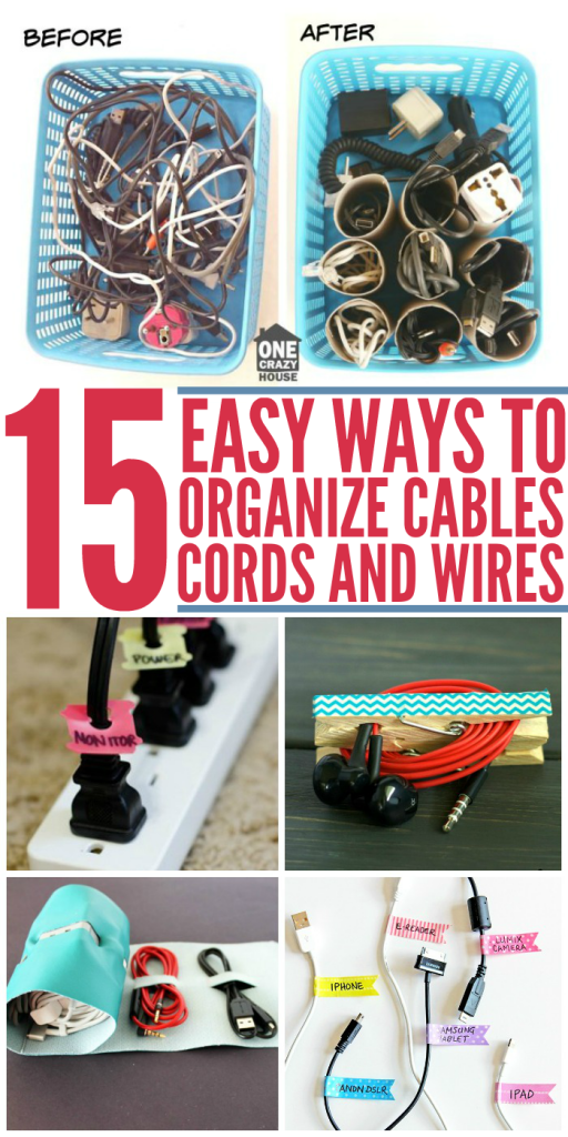 15 Easy Ways To Organize Cables Cords And Wires More