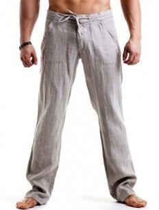 40161a8ba5ffc60 Мужские брюки лен | Льняная одежда in 2019 | Льняные брюки, Мужские ...