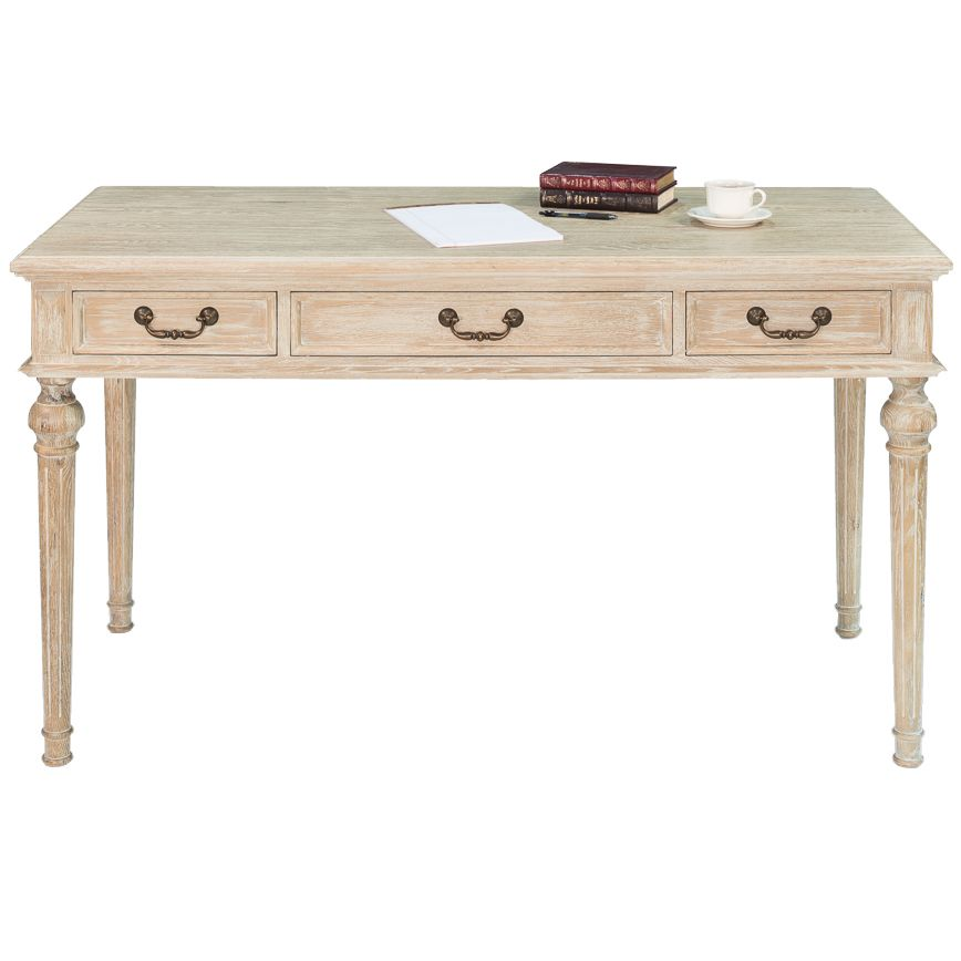Natural Whitewashed French Desk Shabby Chic Desk French Style