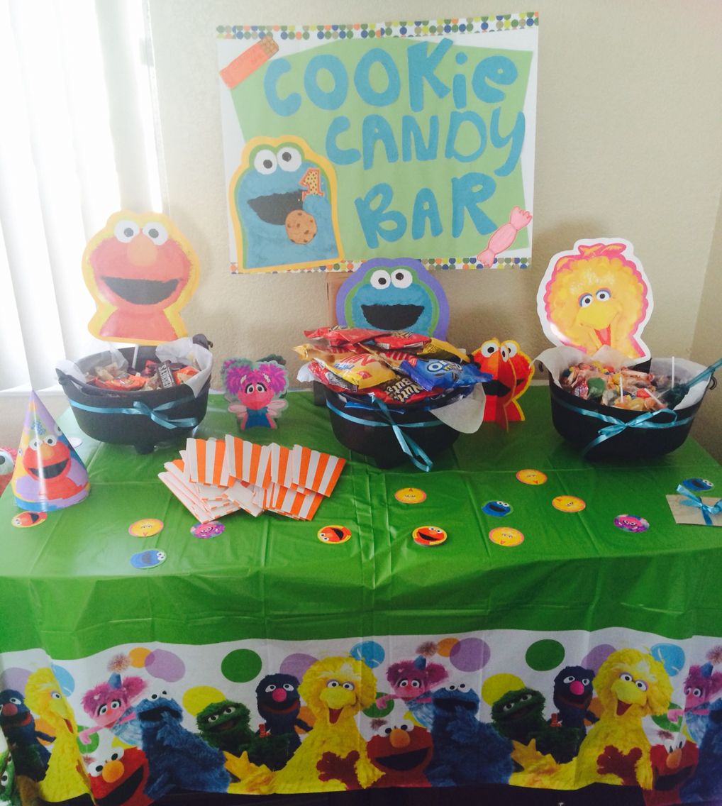 1 Year Old Birthday Party Cookie Candy Bar I Made For My