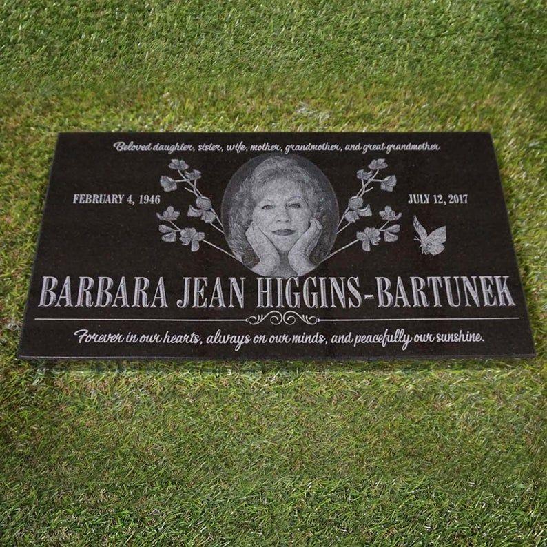 Laser engraved marker granite memorial marker custom
