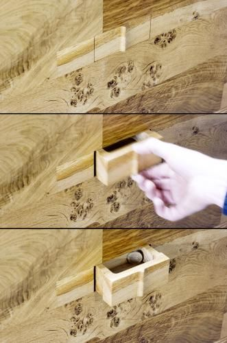 Oak Headboard By John Galvin Design With Secret Compartments