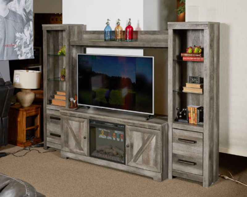 Ashley Furniture W440 68 24 24 27 4 Pc Wynnlow Rustic Gray Finish