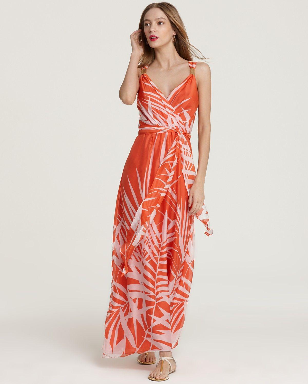 Milly Dress - Samantha Palm Print Maxi Dress | Bloomingdale's