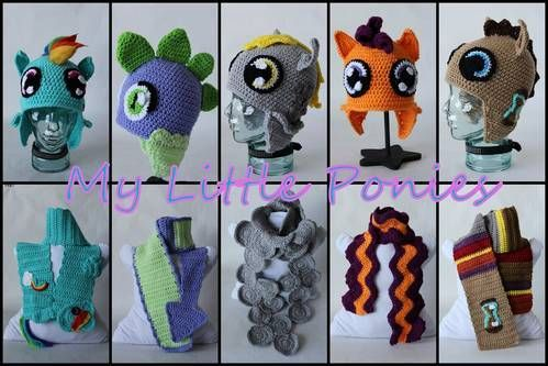 Hats Matching Scarves Inspired By My Little Ponies Find More Fun