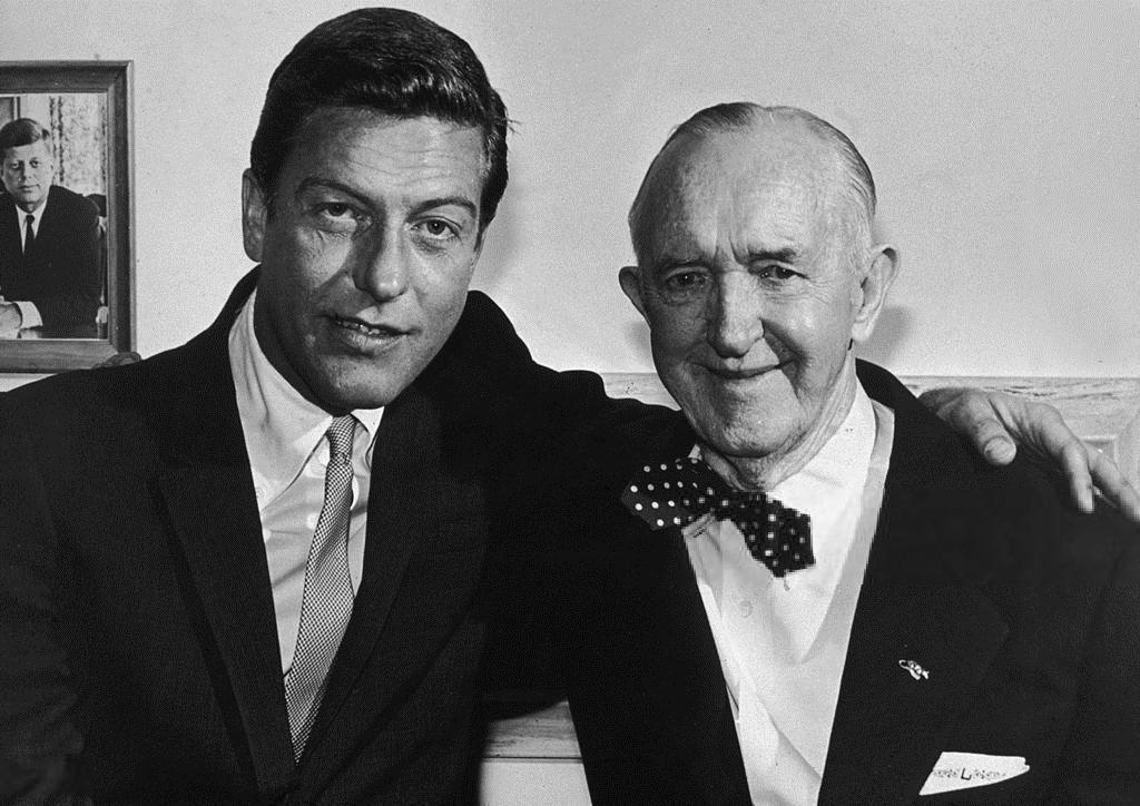 Dick Van Dyke and Stan Laurel (1964)