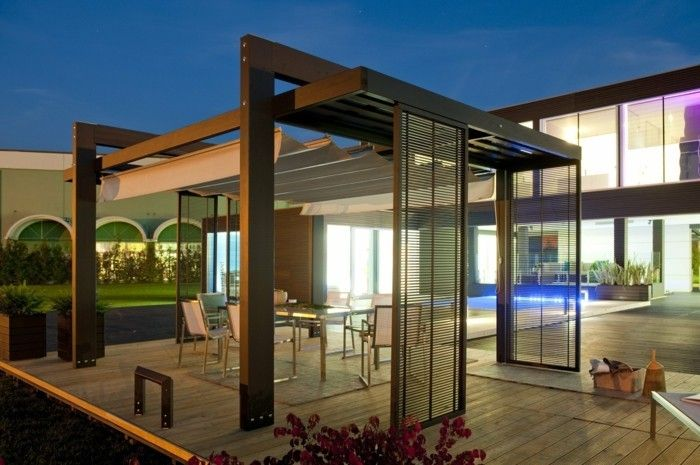 pergola moderne 99 id es inspirantes pergolas pergola canopy and modern pergola. Black Bedroom Furniture Sets. Home Design Ideas