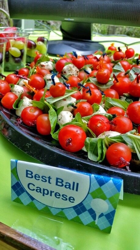 Golf Theme Party Best Ball Caprese Appetizers Golf Theme