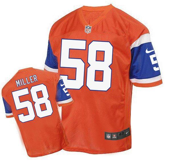 2b35a60d9 Nike NFL Denver Broncos 58 Von Miller 2016 New Style Orange Jersey $24.99  www.unboxingjerseys