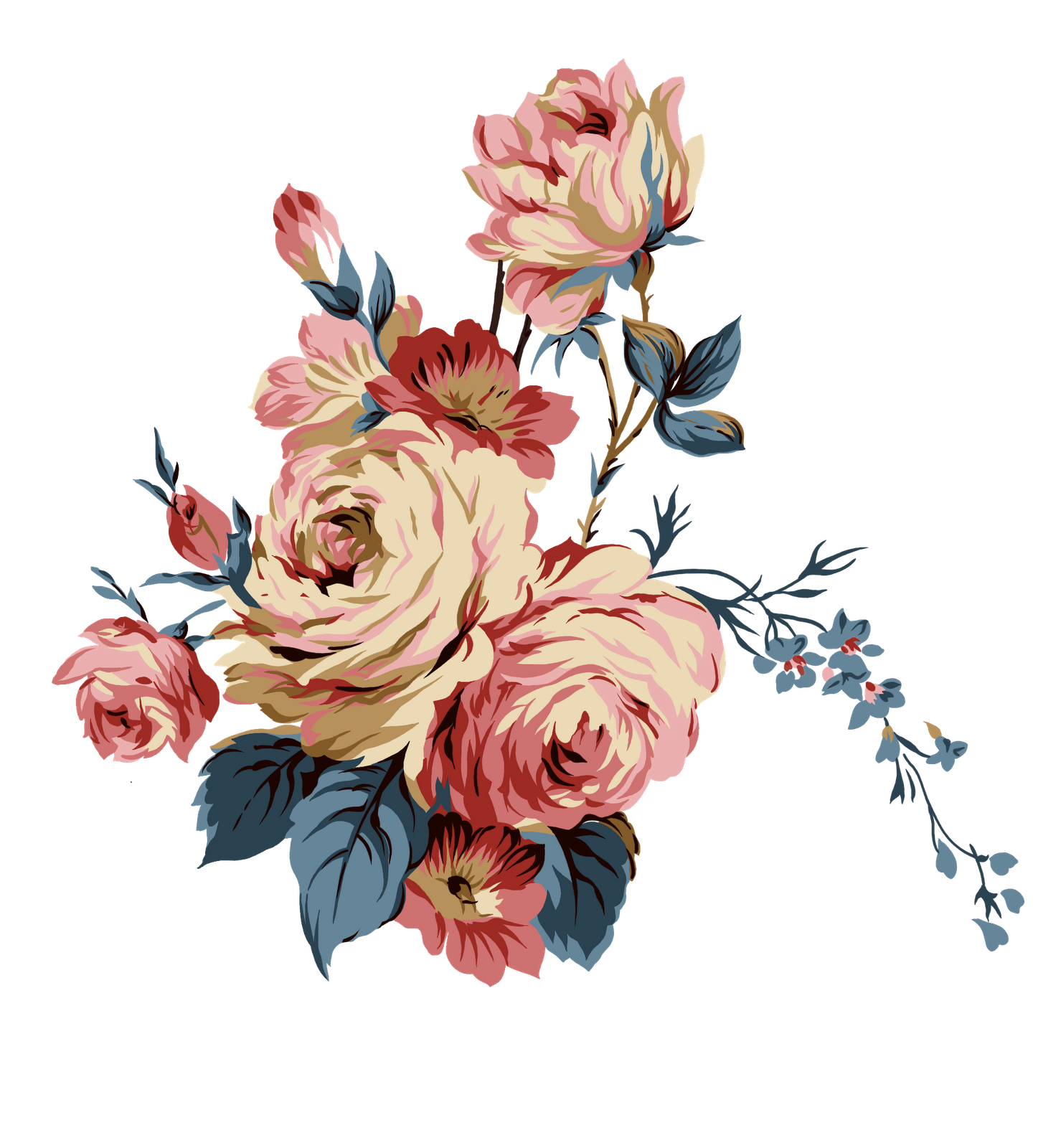 Rose Cluster Png Transparency Overlay For Personal Use Flower Painting Flower Art Vintage Flowers