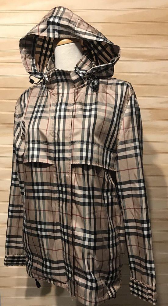 690125685a5b8 NWOT Burberry Nova Check packable windbreaker jacket size S Ladies Golf   Burberry  Windbreaker  Casual