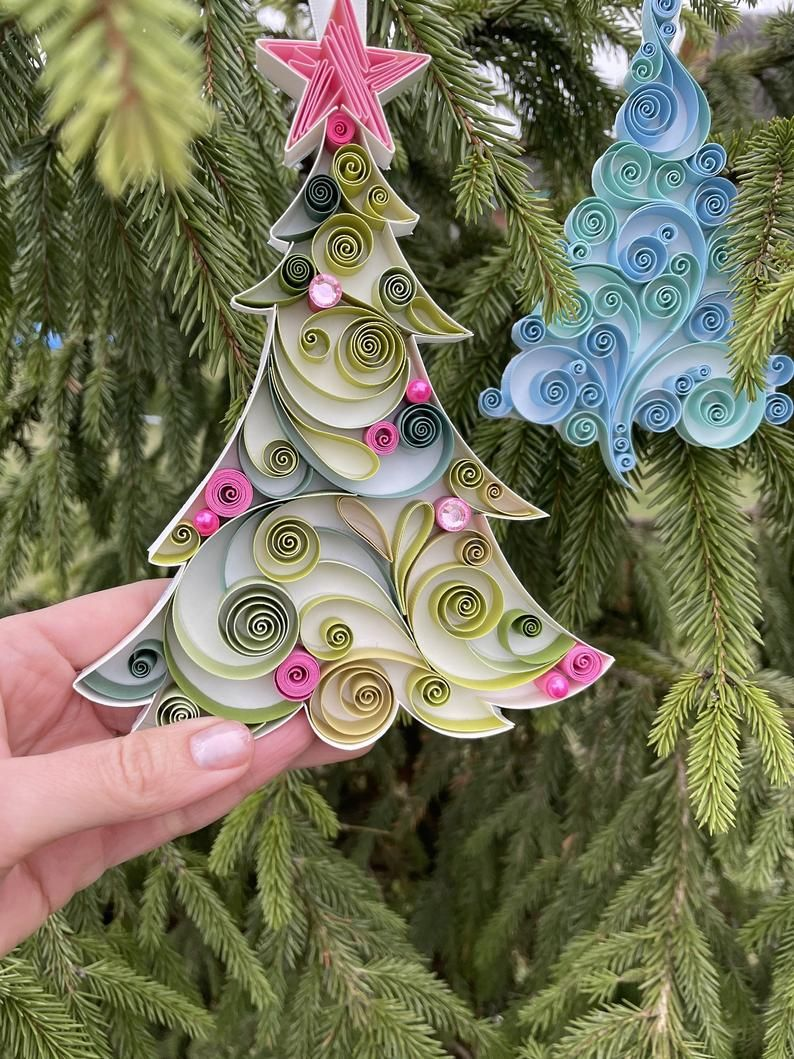 Christmas Ornaments Patterns - Paper Quilling Art