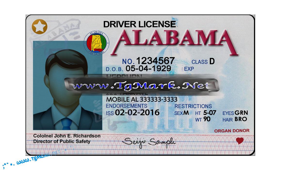 Alabama Drivers License Template Alabama Drivers License Template Alabama Drivers License Template Psd Alabama Driv Signature Fonts Drivers License Templates