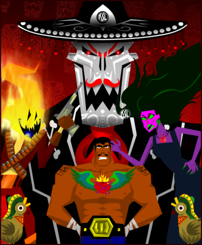 Guacamelee Poster Alternate By Tigresuave11 On Deviantart Art 2d Game Art Poster